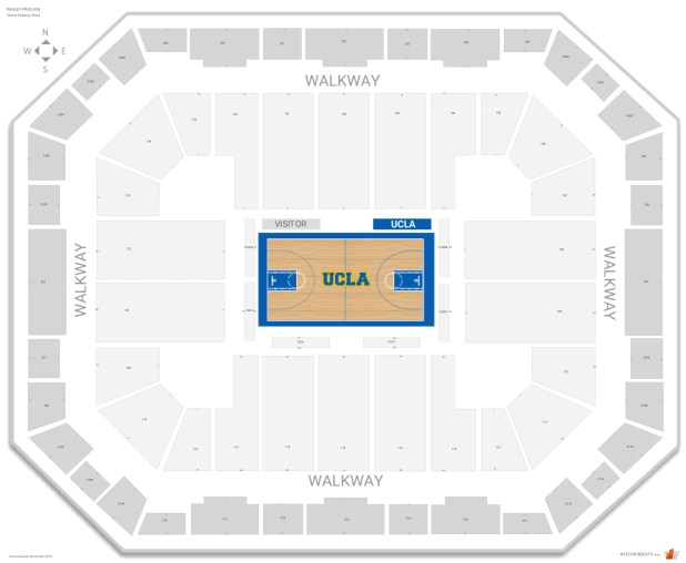 Pauley Pavilion Seating Chart With Row Numbers