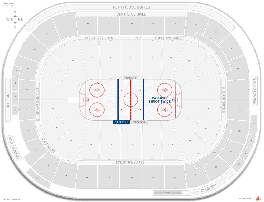 medium resolution of rogers arena seating chart with row numbers