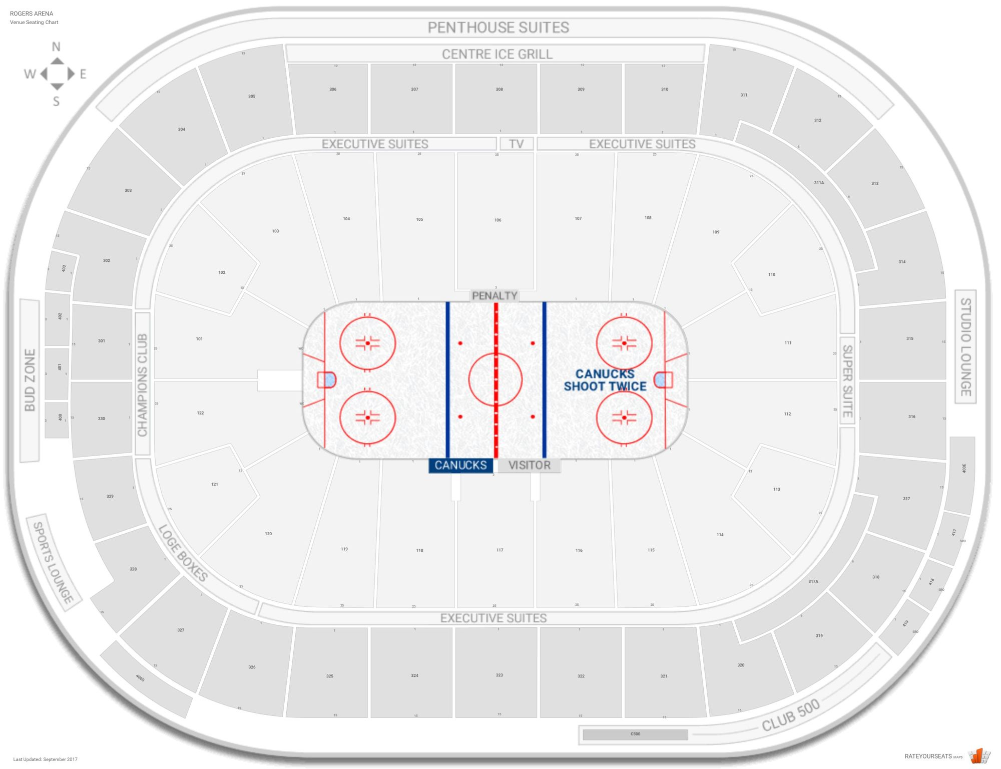 hight resolution of rogers arena seating chart with row numbers