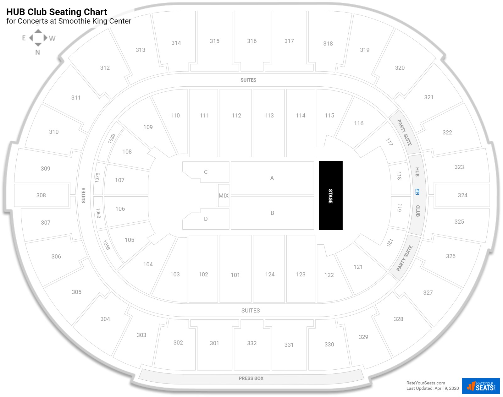 Smoothie King Center Concert Seating Guide