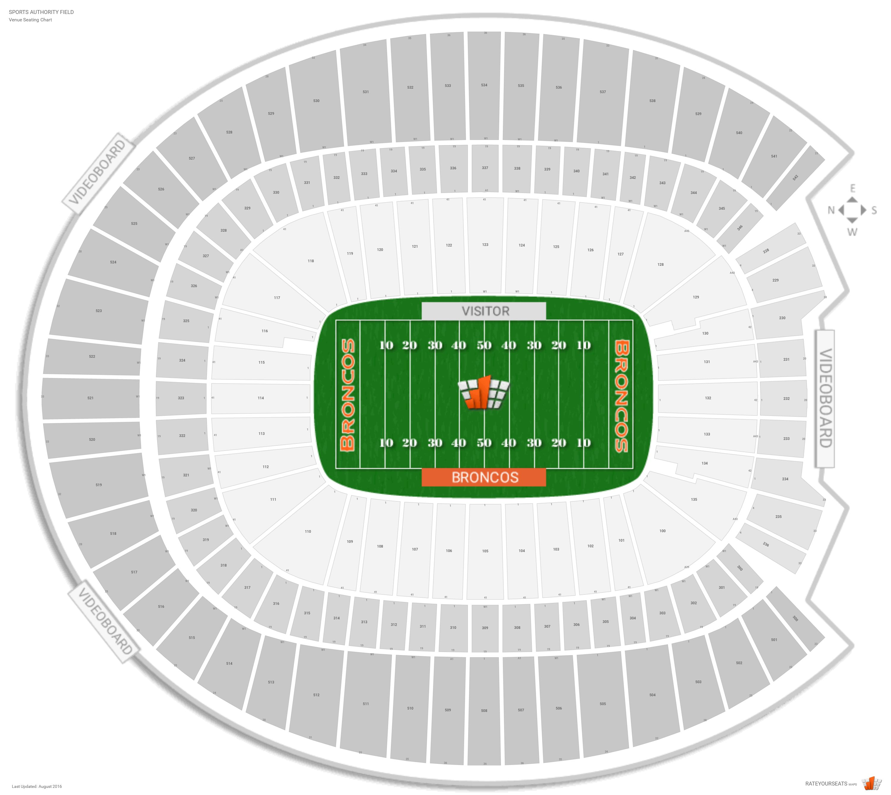 Sports Authority Mile High Stadium Seating Arenda Stroy