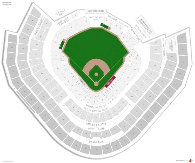 Turner Field Seating Chart With Rows | Awesome Home
