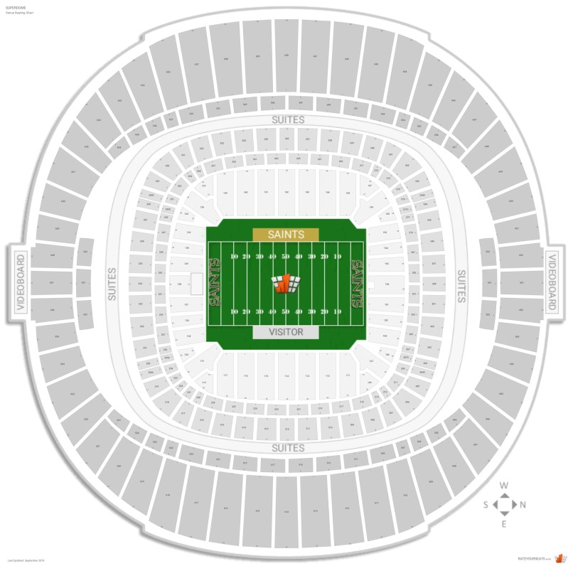 Superdome seating chart seat numbers for Mercedes benz new orleans service