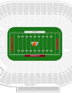 Tcf bank stadium seating chart with row numbers also minnesota guide rateyourseats rh