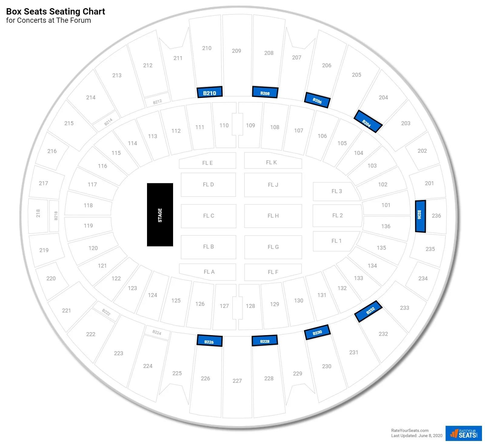 Inglewood Forum Seating Chart View