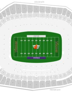 Seating chart with rows also minnesota vikings guide   bank stadium rateyourseats rh