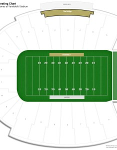 Vanderbilt stadium the bridge seating chart also guide rateyourseats rh