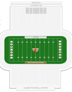 Waldo stadium seating chart with row numbers also western michigan guide rateyourseats rh