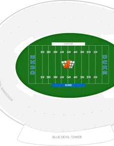 Wallace wade stadium seating chart with row numbers also duke guide rateyourseats rh