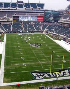 Seat view for lincoln financial field section also philadelphia eagles rh rateyourseats