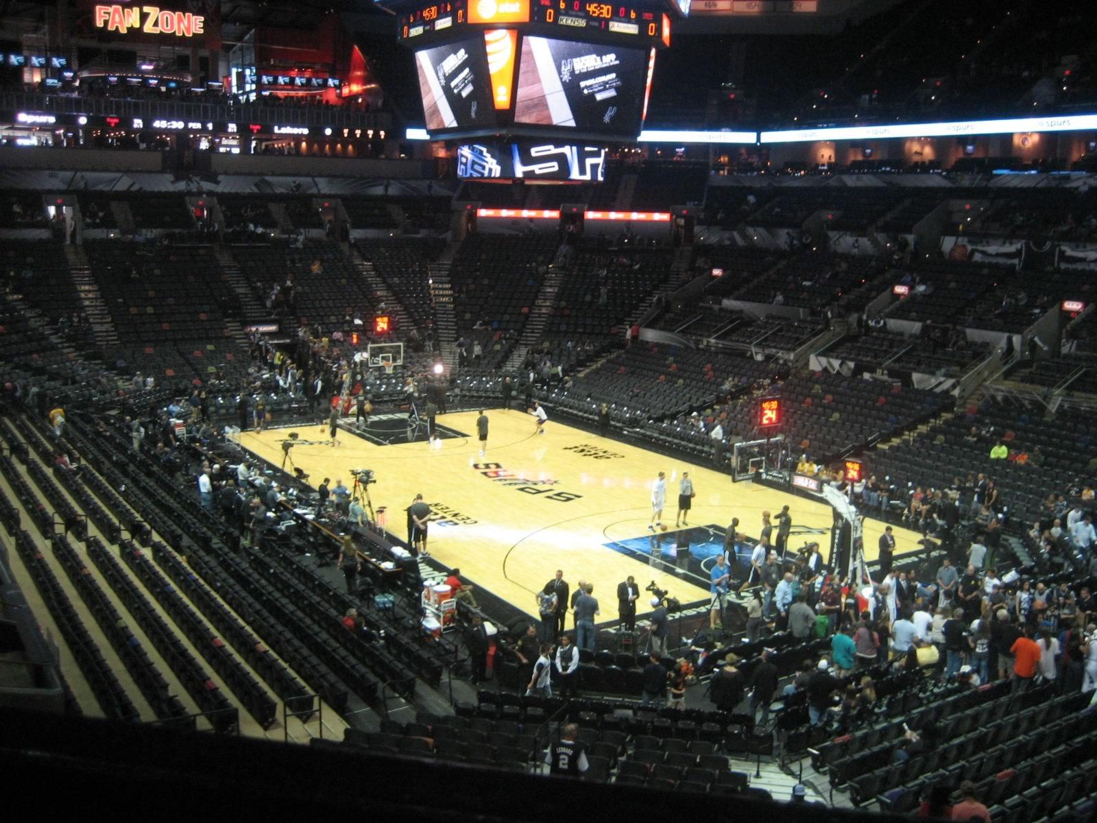 At Amp T Center Section 103 San Antonio Spurs