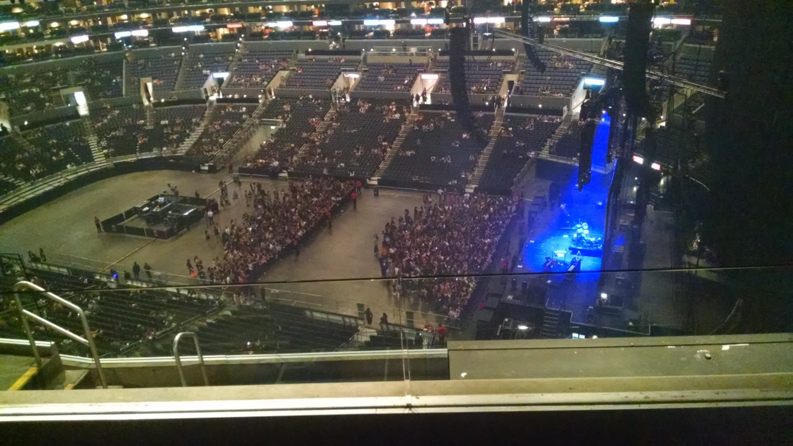 Almost behind the stage curtain Staples Center Section