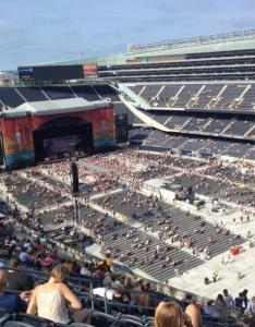 Concert seat view for soldier field section also seating rateyourseats rh