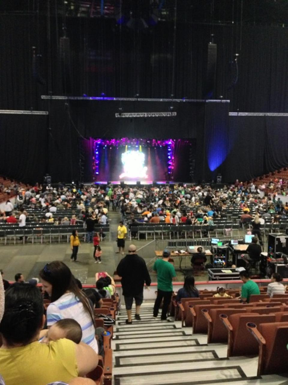 Concert Seat View For Honda Center Section Row Kk Also Seating  Rateyourseats Rh