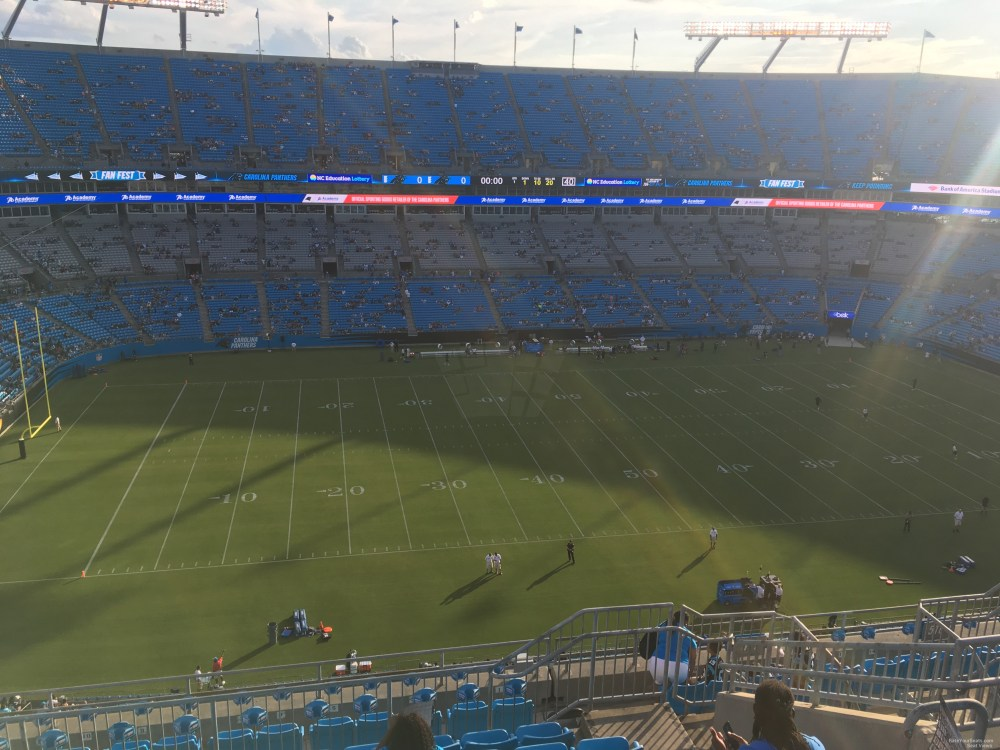 medium resolution of seat view for bank of america stadium section 517