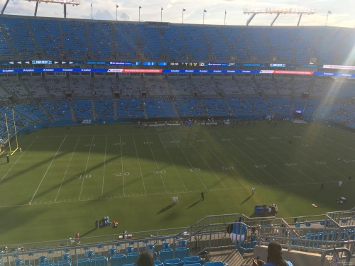 small resolution of seat view for bank of america stadium section 517