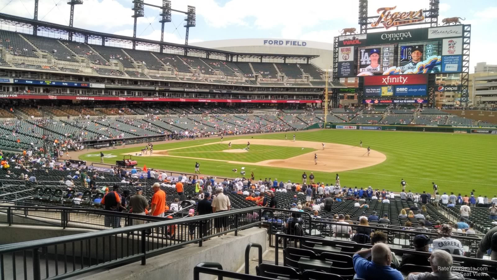 Comerica Field Seating Chart