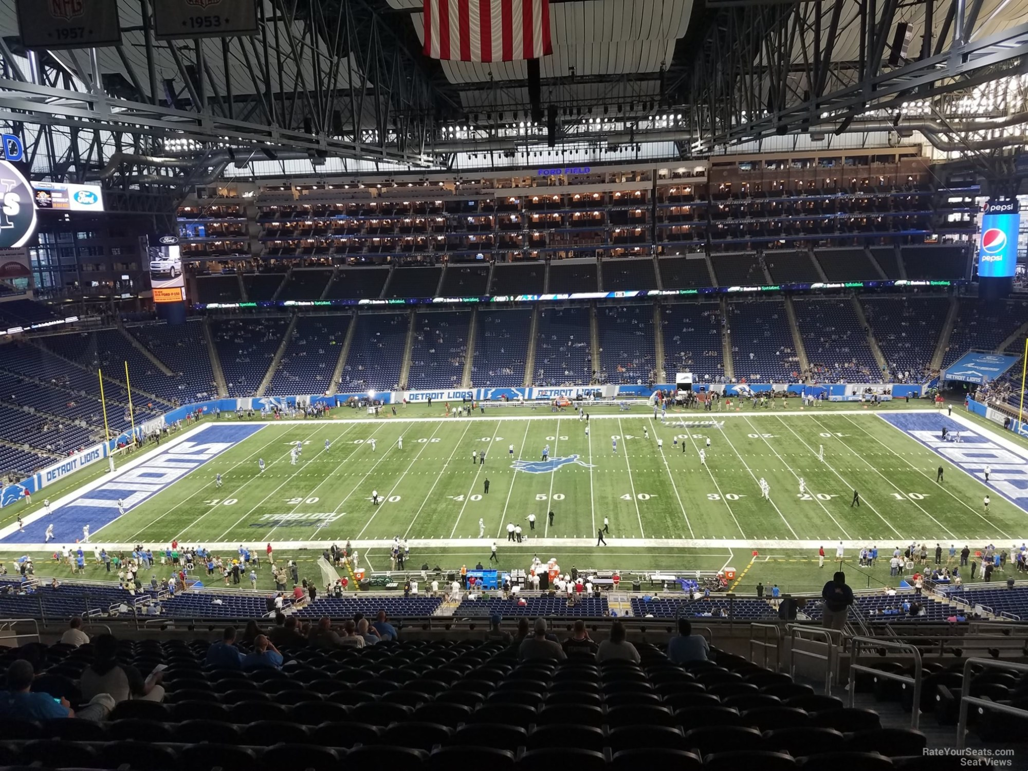 hight resolution of seat view for ford field section 331