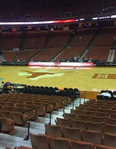 Seat view for frank erwin center section also texas basketball rateyourseats rh