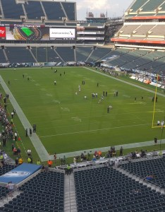 Seat view for lincoln financial field section  row also philadelphia eagles rh rateyourseats