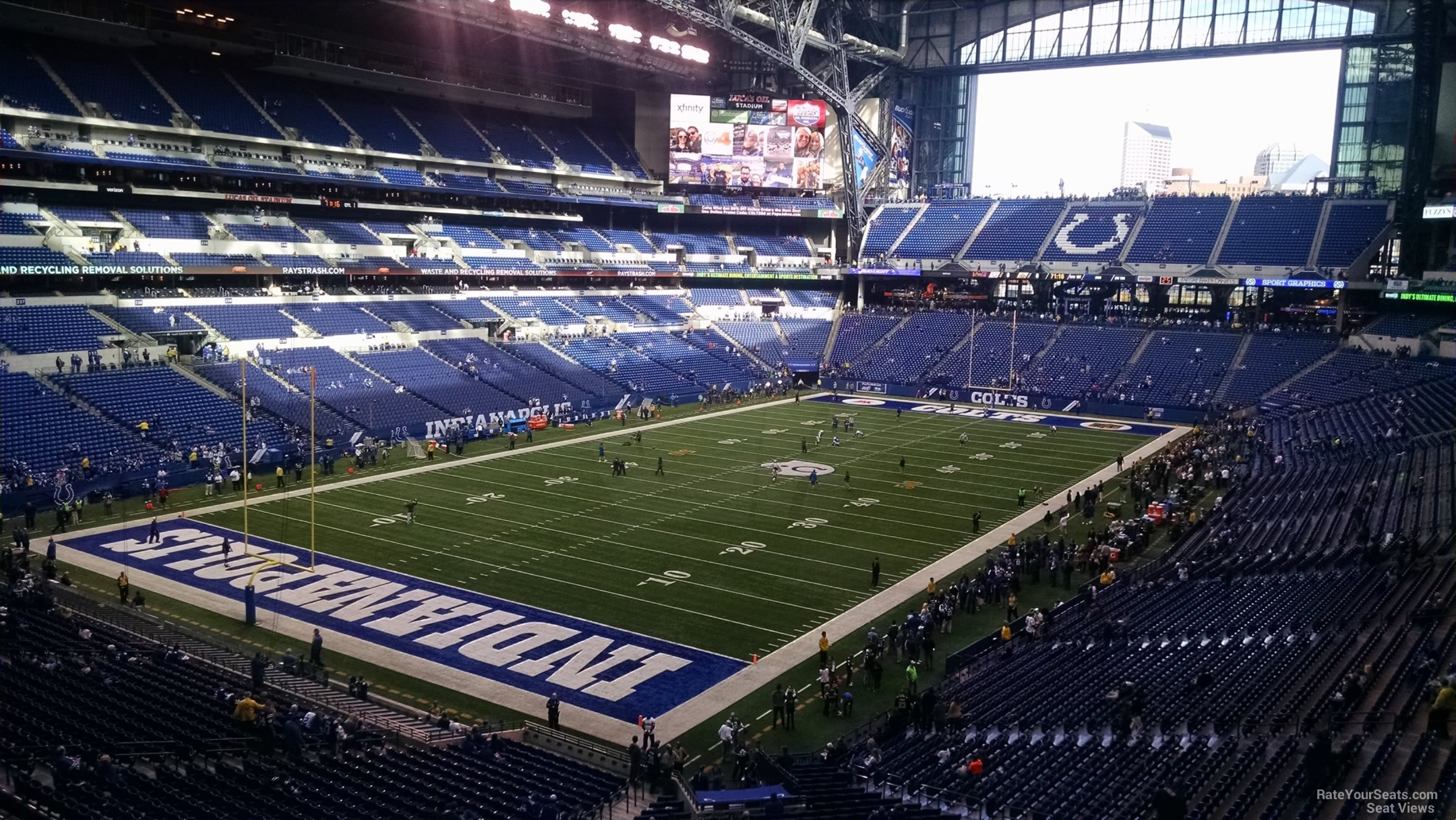 Lucas Oil Stadium Section 322  Indianapolis Colts