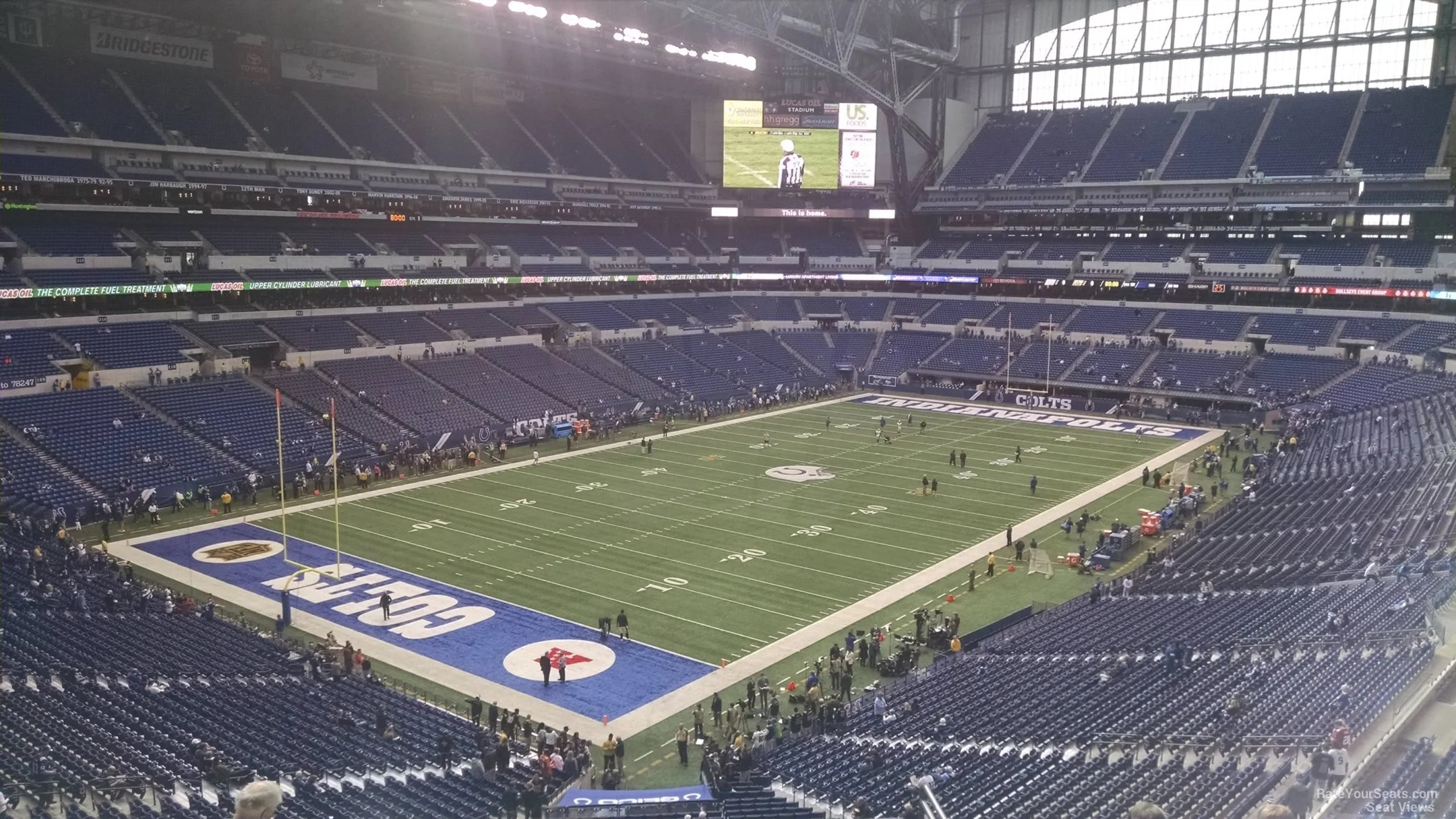 folding visitor chair adult rocking lucas oil stadium section 449 - indianapolis colts rateyourseats.com
