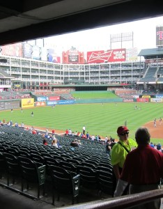 Where should visiting fans sit rd base side to get shade from the upper deck also texas rangers globe life park seating chart  interactive map rh rateyourseats