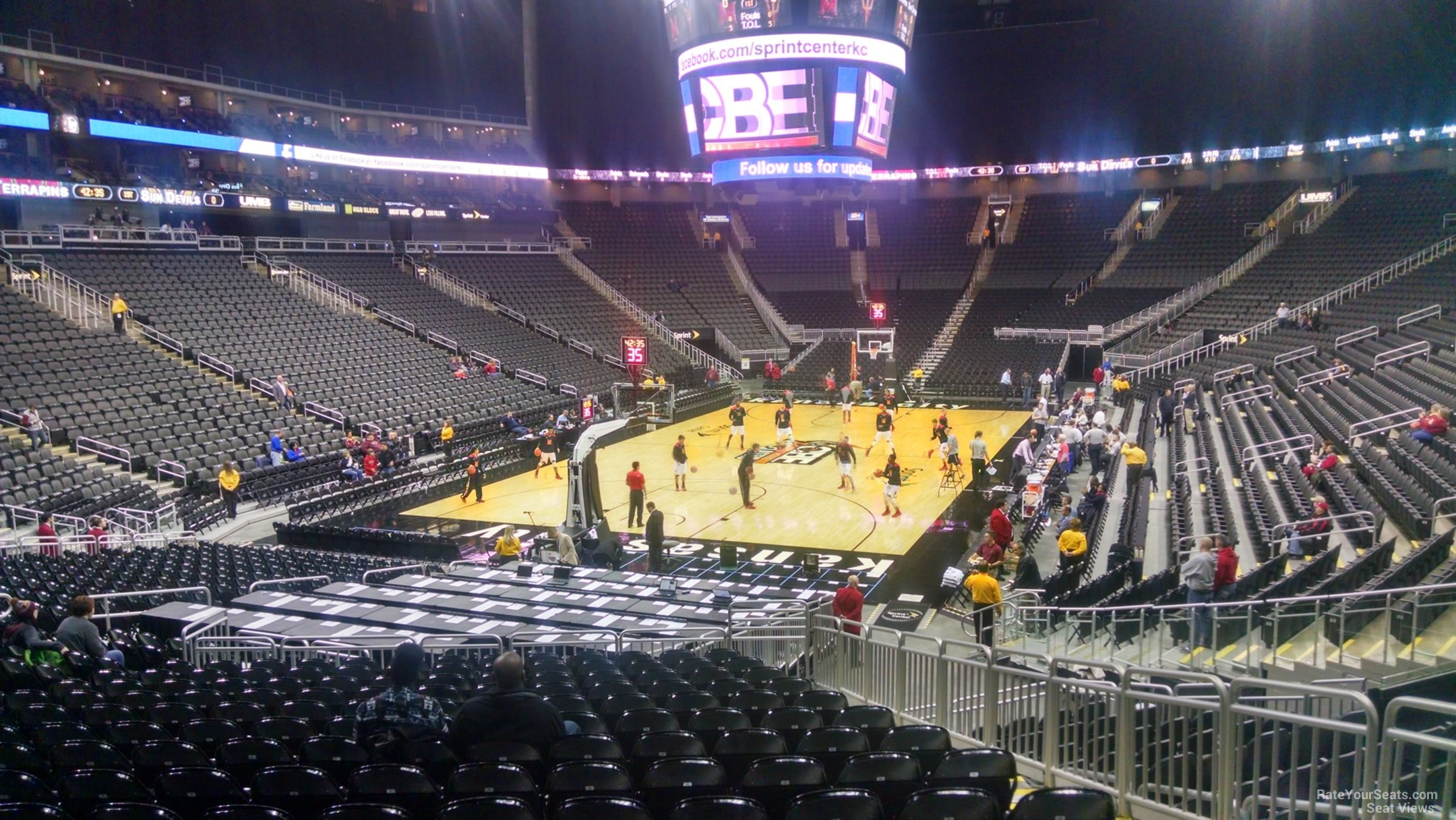 Sprint Center Section 110 Basketball Seating