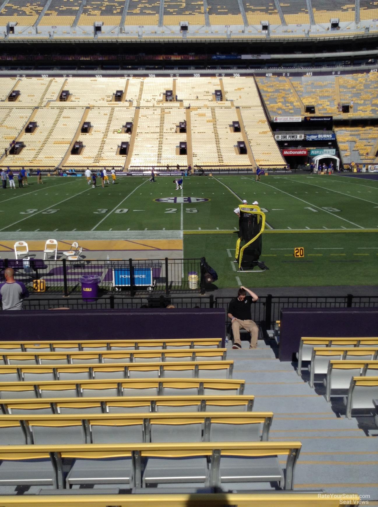 Lower Level Sideline  Tiger Stadium Football Seating