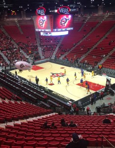 Where is section bnch  row box at viejas arena also san diego state basketball seating chart rh rateyourseats