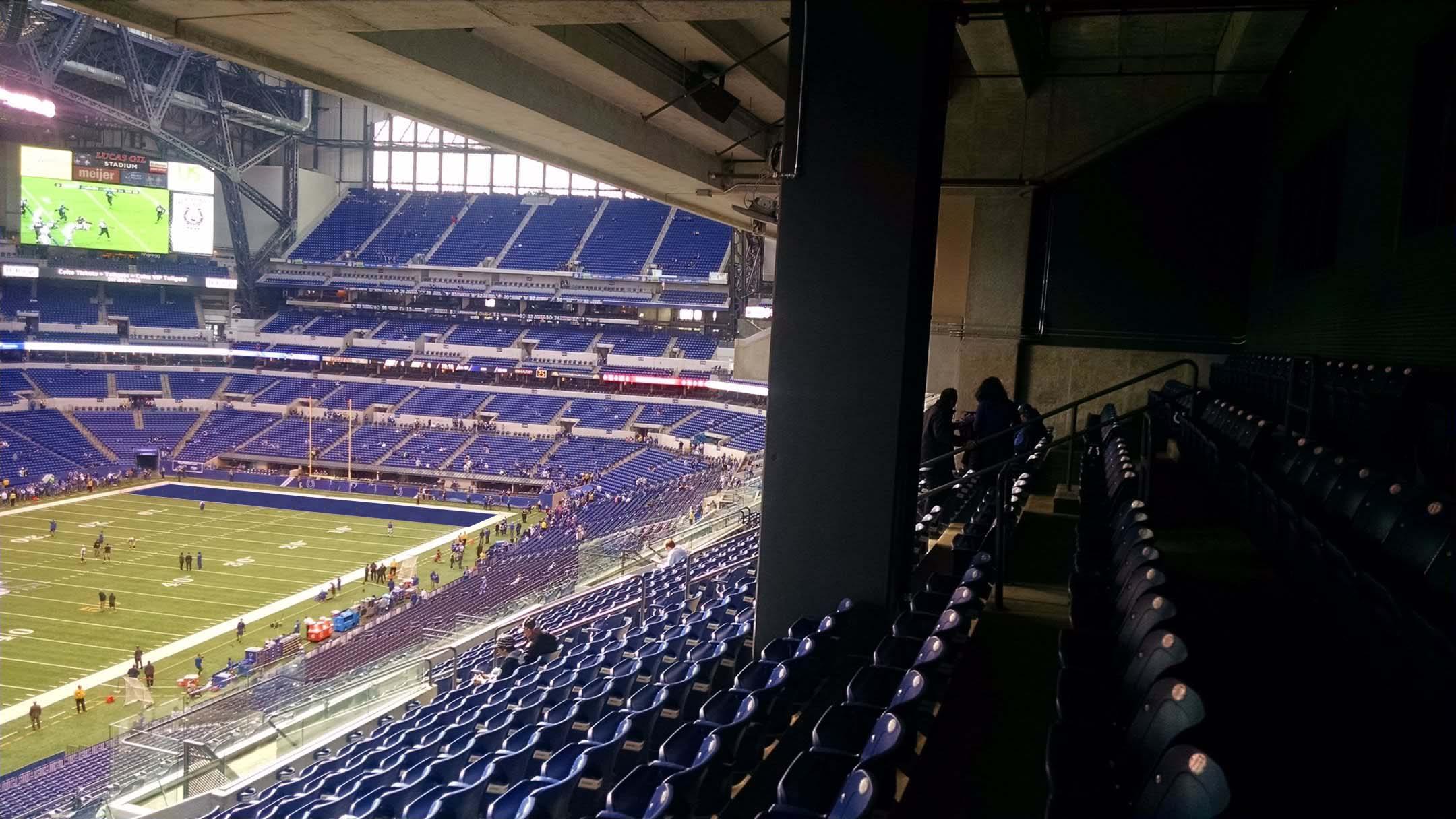 Lucas Oil Stadium Loge Level Corner  Football Seating