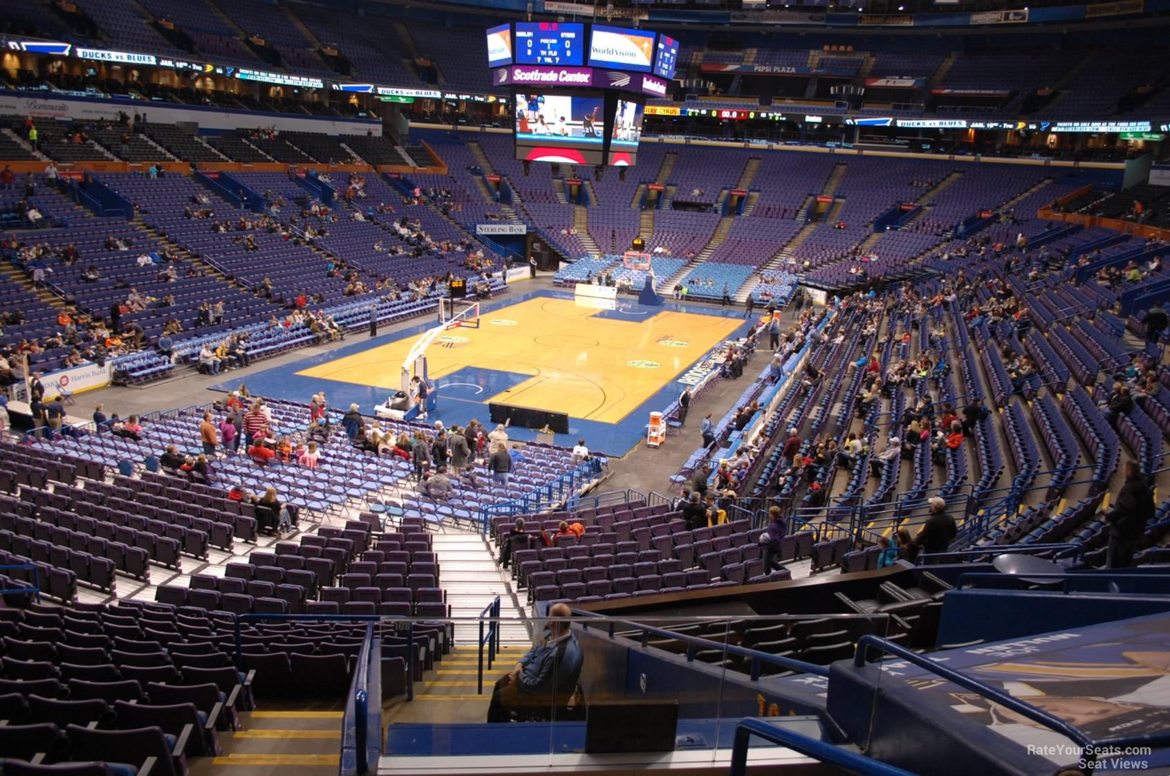 Enterprise Center Section 108 Basketball Seating