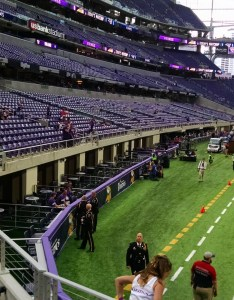 Looking down into the field suites on vikings side of these include seating with an additional room behind seats also minnesota guide   bank stadium rateyourseats rh