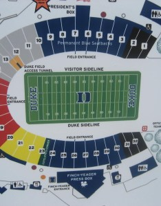 Wallace wade stadium uses an even odd seating layout each section is split down the middle by aisle bearing its name seats on left side of also duke guide rateyourseats rh