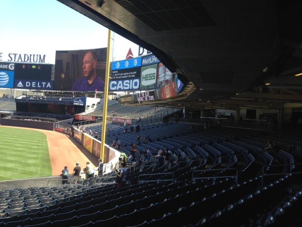 The Second Deck At Yankee Stadium Covers A Majority Of Rows In Right Field Lower Level