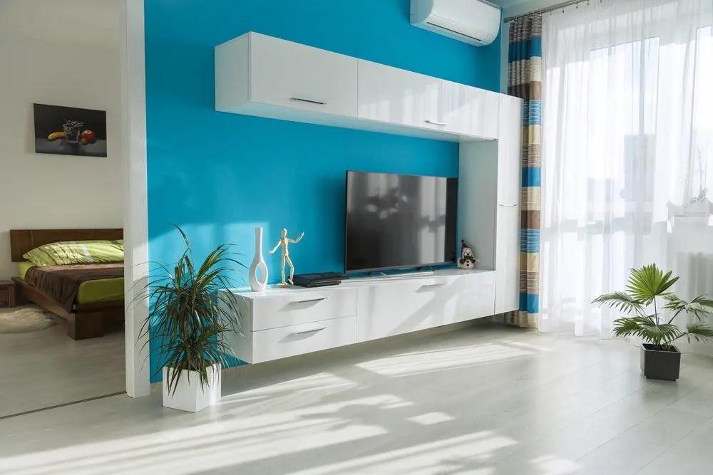 Wohnzimmer und Schlafzimmer in Blau  Ratgeber Haus  Garten