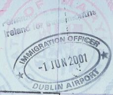 Image result for irish passport stamp