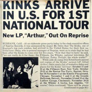 Arthur album: front cover for special folder for promotional press kit for ARTHUR LP album on Reprise from America.