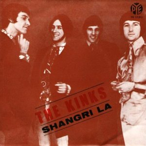 Arthur album: picture sleeve to SHANGRI-LA single on Pye from Portugal.