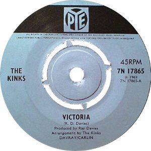 Arthur album: blue label stock copy of VICTORIA single on Pye UK.