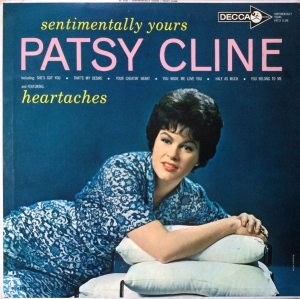 Hyperbolic Exaggeration: front cover of Patsy Cline's third album, SENTIMENTALLY OURS, from 1962.