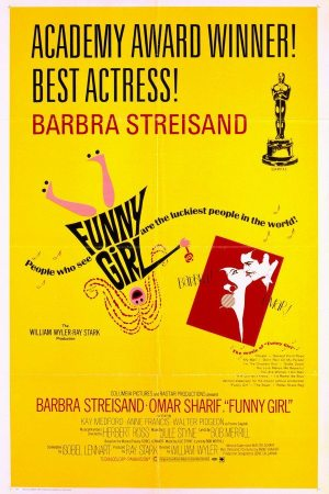Hyperbolic Exaggeration: poster for Barbra Streisand in the movie FUNNY GIRL from 1968.
