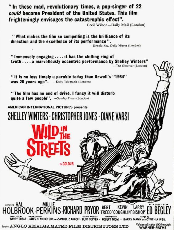 Streets Part 1: 1968 newspaper advertisement for the movie WILD IN THE STREETS..