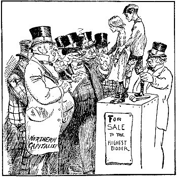 Child labour cartoon, United States, 1902