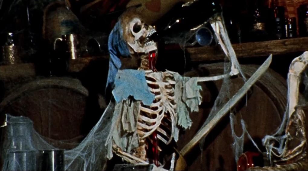SkeletonDrinkWine