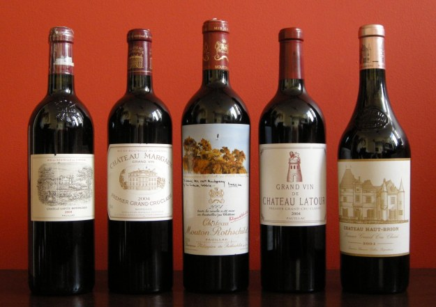 The Premier Cru wines of Bordeaux
