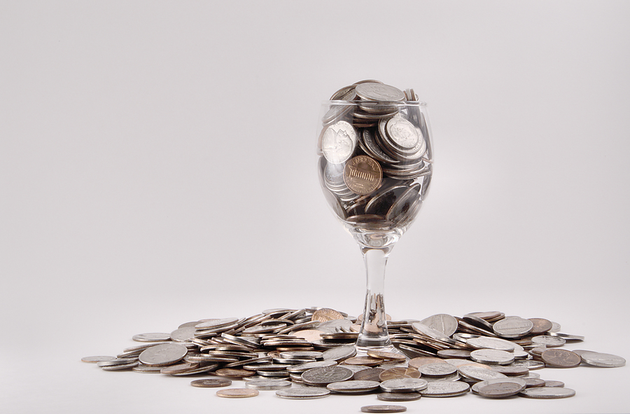 Coins-In-A-Wine-Glass