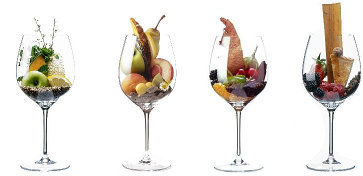 Fruit In Wine Glasses