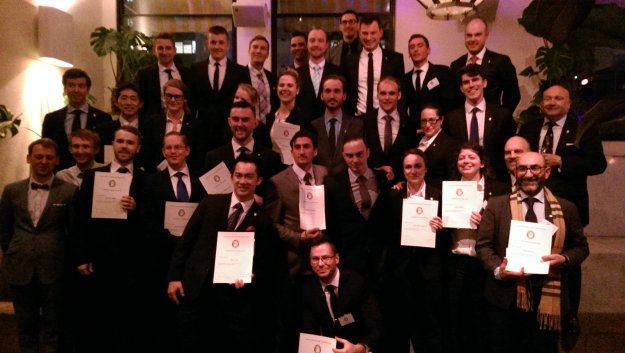 A bunch of freshly minter Certified Sommeliers, including yours truly