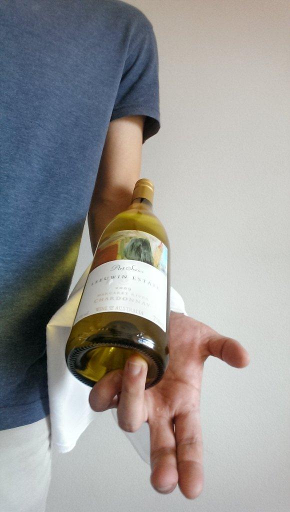 Napkin With White Bottle